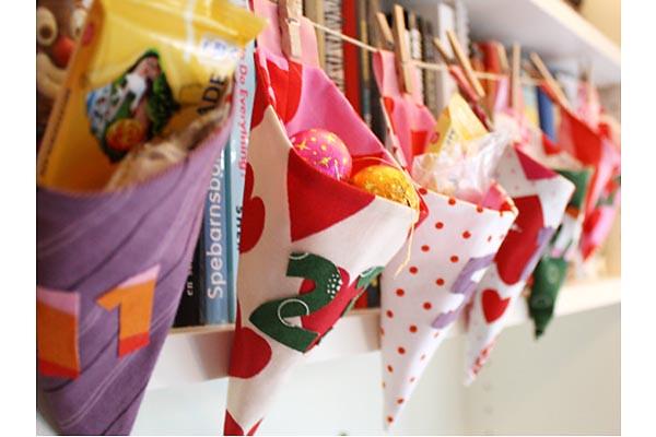 fabric sachets garland