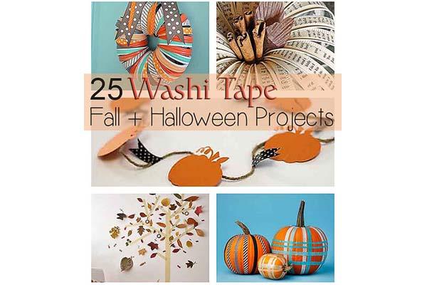 25 Washi Tape Fall Halloween Ideas