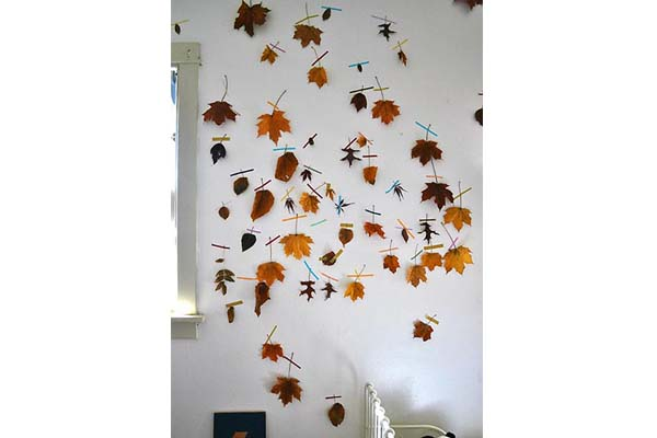 Waxed Leaves on Wall