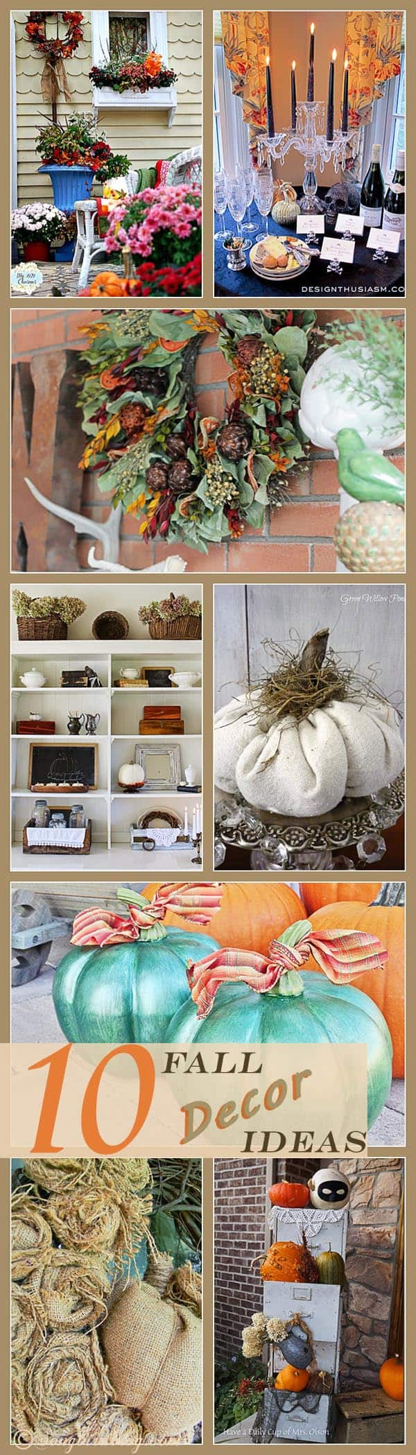 10 Fall Decor Inspirations