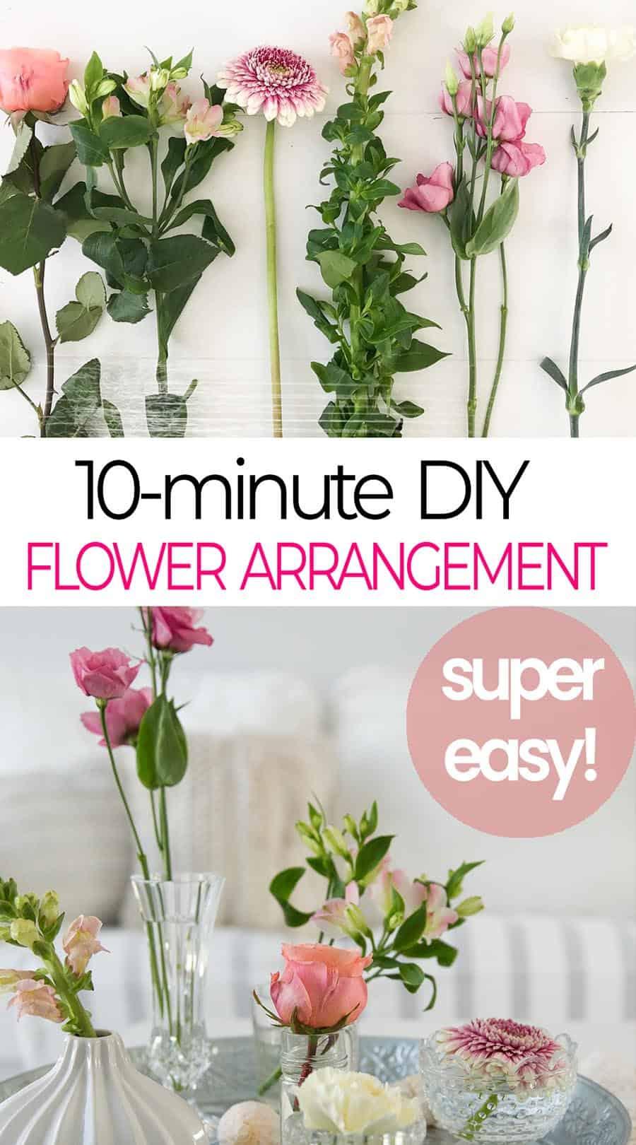10 minute dia flower arrangement idea