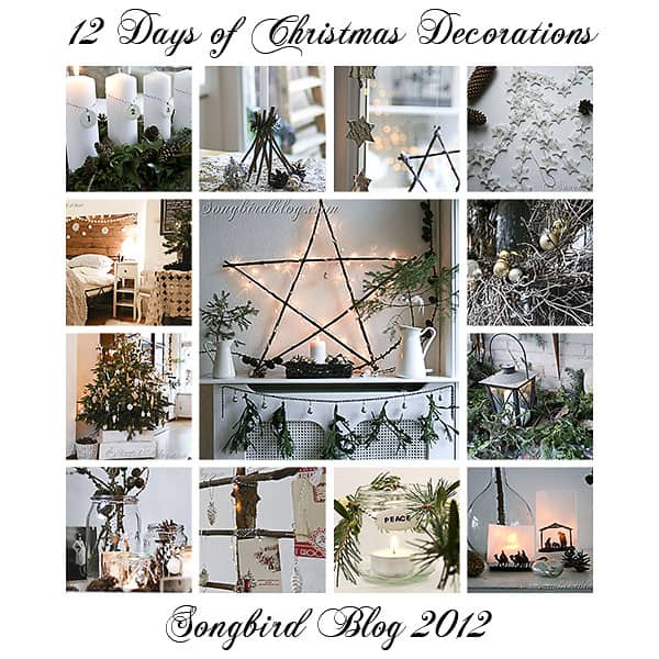 natural and free Christmas decoration ideas at Songbird blog