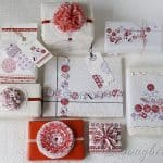 Christmas Gift Wrapping Ideas in Red and White