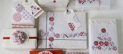 Songbird Christmas White Red Gift Wrapping Ideas