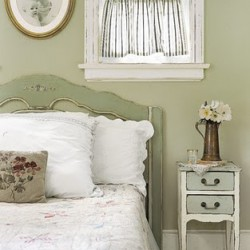 Pale green bedroom