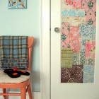 Patchwork-Wallpapered Closet Door