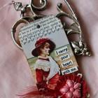 Beautiful, original Valentine's tag.