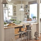 "Beautiful example of an ""industrial coastal cottage"" kitchen"