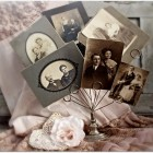 Like this display of old photographs.