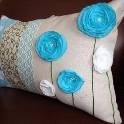 Af fun pillow project. Beautiful color choice