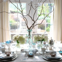 Blues and Branches: A Spring Tablescape