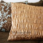 Gathered Pillow Covers Tutorial