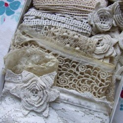 How to care and keep old lace at Little Pink Studio