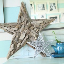 Handmade driftwood star from The Handmade Home. I have been eyeing these in the stores for some time