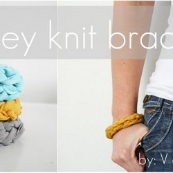 V and Co how to: jersey knit bracelet