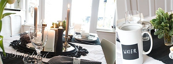 Black White Table Setting 2