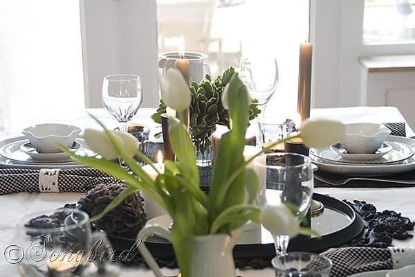 Black White Table Setting 3