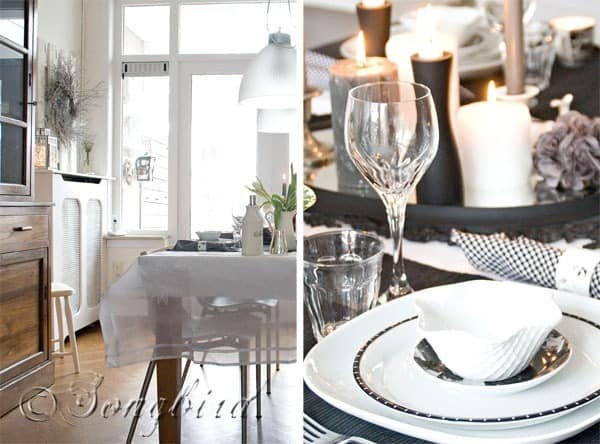 Black White Table Setting 5