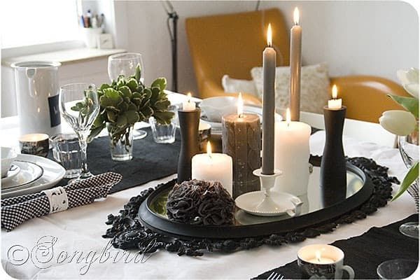 Black White Table Setting 6