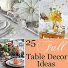 A collection of 25 stunning Fall table decor ideas via http://www.songbirdblog.com
