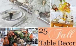 25 Stunning Fall Table Decor Ideas