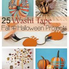 25 Fall and Halloween Ideas with Washi Tape