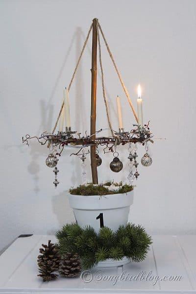 Rustic Advent Wreath DIY