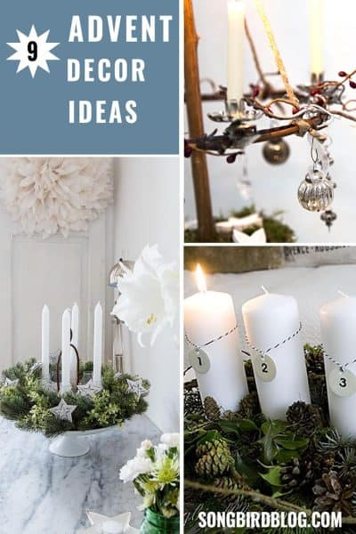 Advent wreath and candle holder ideas