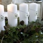 Four Candle Advent Decoration. 12 Days of Christmas Decorating, Day 1
