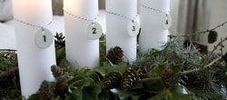natural, homemade Advent decoration centerpiece Christmas