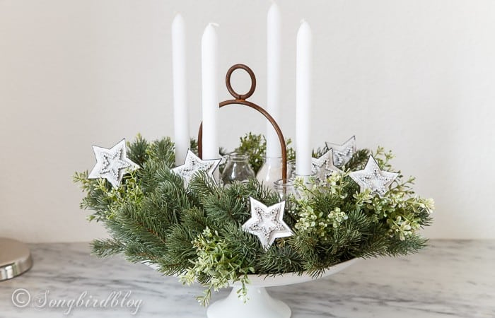 Advent wreath with four candles-2