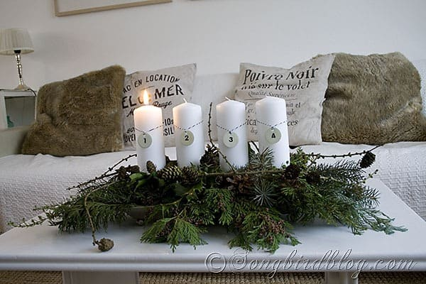 All natural Advent Decoration