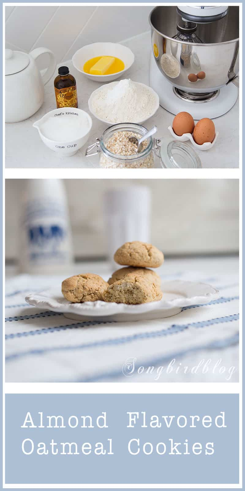 You have to try this recipe for almond flavored oatmeal cookies. It was a recipe of my mom and the memory of these cookies stayed with me since my childhood. It is easy and quick and a cheap recipe as well.