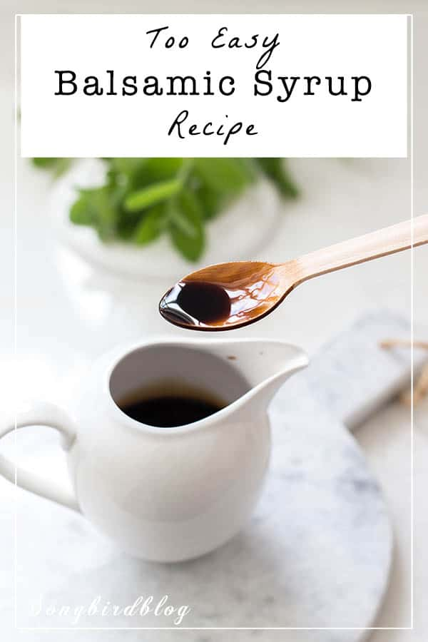 Balsamic syrup recipe