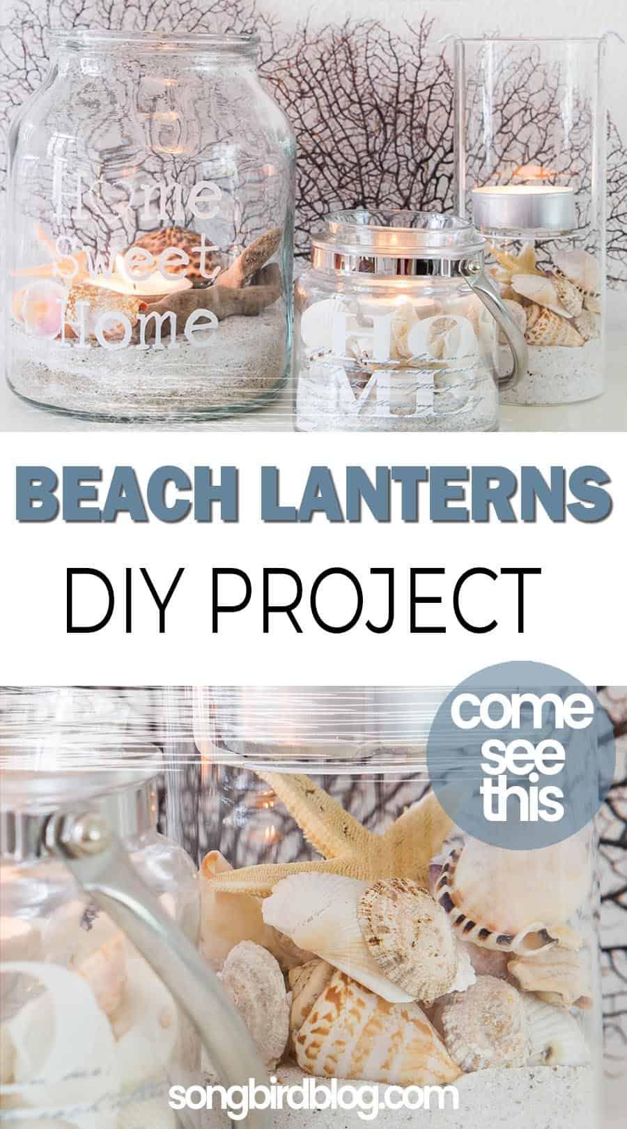 beach lantern diy