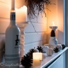 Black and White Fall Mantel Decor thumb