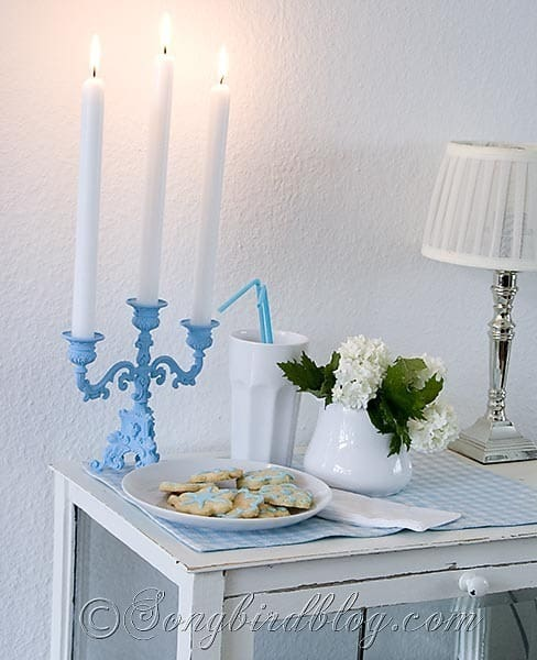 Blue Candle Stick 4