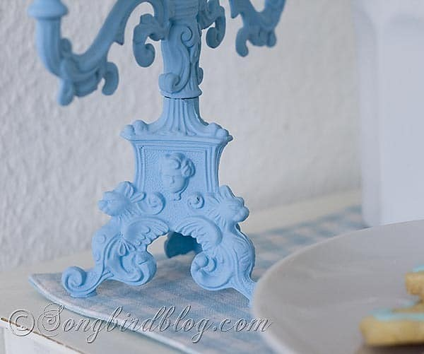 Blue Candle Stick 6