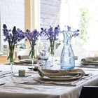 Blue Flowers Lace Napkin Rings Table Setting