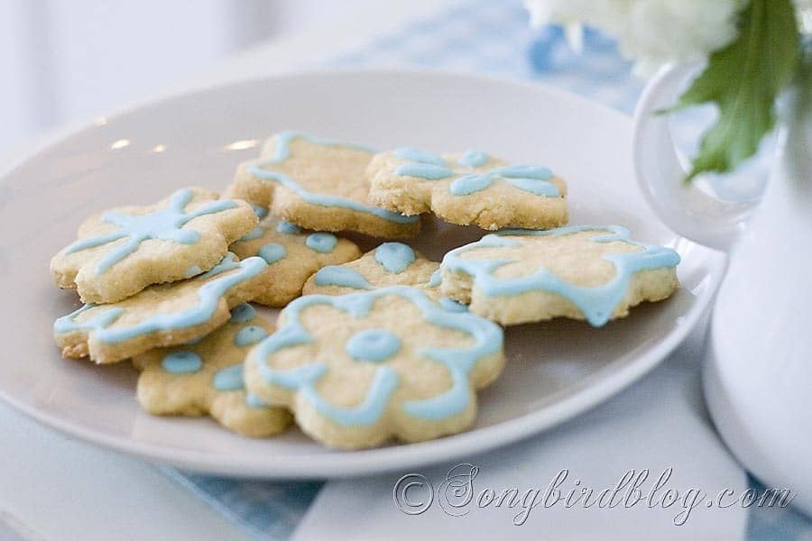 Blue Iced Cookies