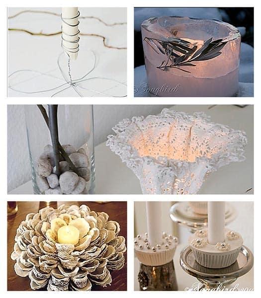 Candle holder inspiration songbird for Candle holder crafts