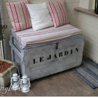 repurposed army trunk