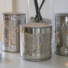 vegetable tins turned beautiful Christmas decorations