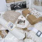 vintage gift wrap ideas for Christmas in brown and white