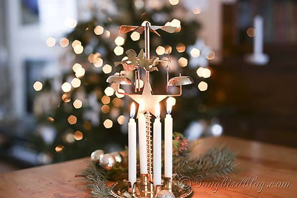 carousel angels candles bells via Songbird Blog (3)