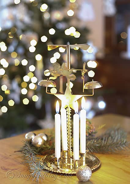 carousel angels candles bells via Songbird Blog (2)