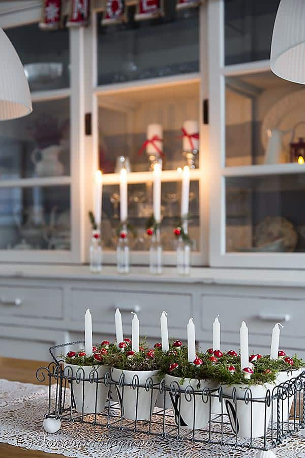 Christmas  candles decoration pots 1