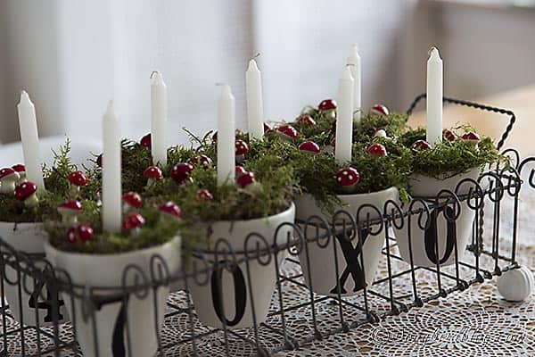 Christmas  candles decoration pots 2