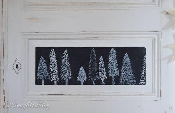 Christmas chalkboard doodles- Christmas trees