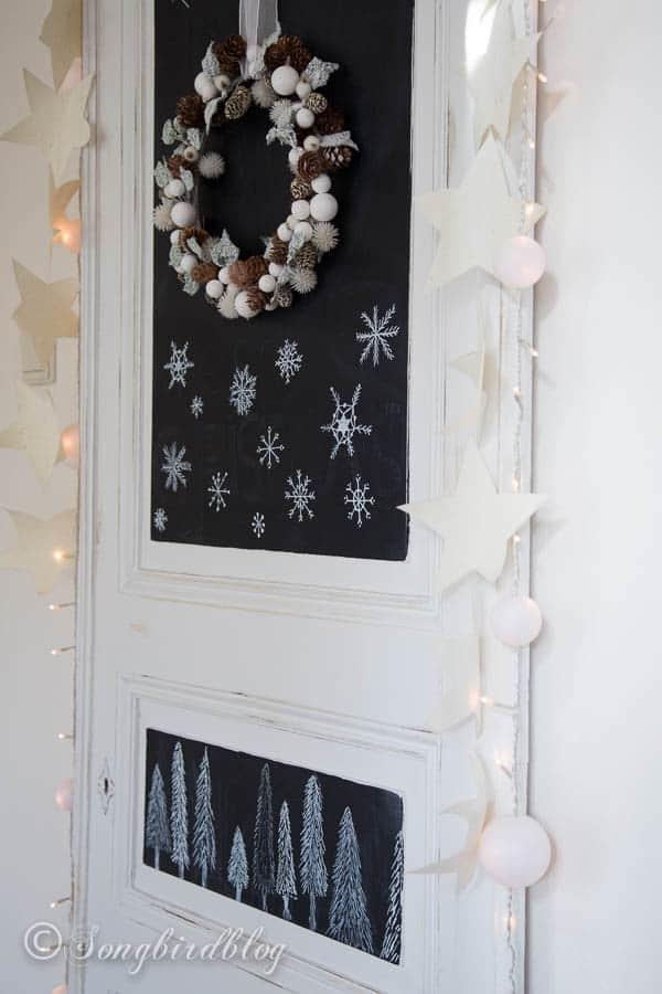 Christmas chalkboard doodles